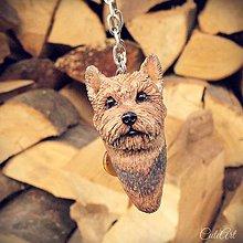 Kľúčenky - Yorkšírsky teriér - kľúčenka podľa fotografie psa - 8799069_