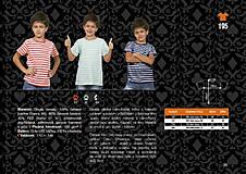 Tričká - Rodinná sada tričiek - pásiky - 8794350_