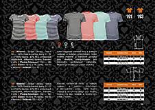 Tričká - Rodinná sada tričiek - pásiky - 8794351_