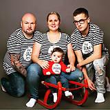 Tričká - Rodinná sada tričiek - pásiky - 8794353_