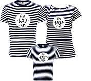 Tričká - Rodinná sada tričiek - pásiky - 8794355_