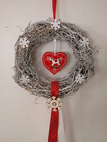 Dekorácie - Vianočný veniec Koník - 8796497_