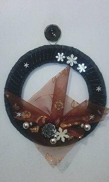 Dekorácie - Originálny vianočný venček - 8794745_