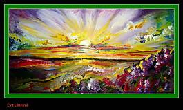 Obrazy - východ slnka - 8794538_