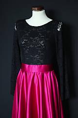 Šaty - Spoločenské šaty s dlhým rukávom a kruhovou sukňou rôzne farby - 8797426_