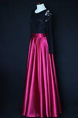 Šaty - Spoločenské šaty s dlhým rukávom a kruhovou sukňou rôzne farby - 8797427_