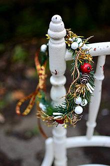 Ozdoby do vlasov - Vianočný venček - 8798633_
