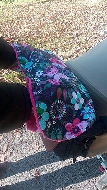 Textil - Rukávnik na kočík - pink flower - 8797151_
