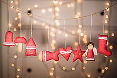Dekorácie - Vianočná sada červená - 8797485_