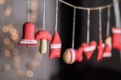 Dekorácie - Vianočná sada červená - 8797486_