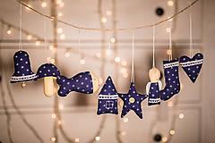 Dekorácie - Vianočná sada modrá - 8797699_