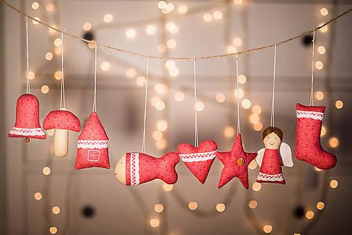 Vianočná sada červená