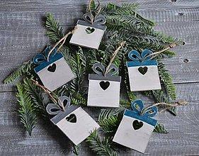 Dekorácie - vianočné ozdoby 6ks -