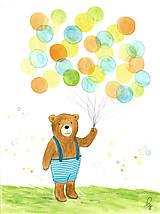 Obrázky - Maco s balónmi - 8798408_