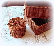 Košíky - Košík čokoládový set - 8796899_