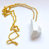 Náhrdelníky - Náhrdelník Krystalix / biely - 8797390_
