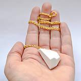 Náhrdelníky - Náhrdelník Krystalix / biely - 8797391_