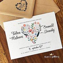 Papiernictvo - Svadobné oznámenie ~Natural Love~ - 8795549_