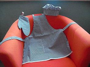 Detské doplnky - Alun - súprava zásterka, rukavička, čiapka - 8797514_