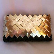 Kabelky - čierno zlatá kabelka 3 - 8797530_