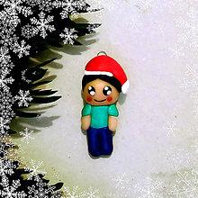 Dekorácie - Vianočná figúrka - chlapec - 8797367_