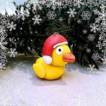 Dekorácie - Vianočná figúrka - kačka - 8797890_