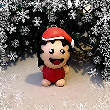 Dekorácie - Vianočná figúrka - tlsté dievča - 8798597_