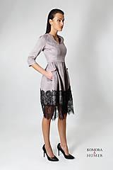 Šaty - Púdrové šaty čipka - 8800704_