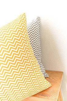 Úžitkový textil - Pestré... žltý alebo šedý mini cik-cak... 35x35 cm... komplet - 8763863_