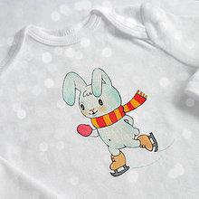 Detské oblečenie - Body zajko korčuliar - 8737568_