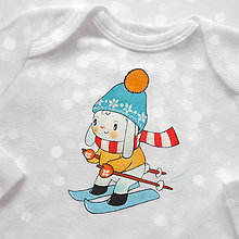 Detské oblečenie - Body zajko lyžiar - 8737714_