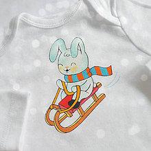 Detské oblečenie - Body zajko na saniach - 8737846_