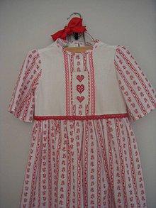 Detské oblečenie - dievčenské šaty  v.116 s výšivkou - 8802805_