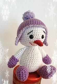 Dekorácie - Veselý snehuliačik - 8801149_
