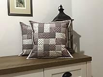 - vzor capuccino hnedá  - biela   (vankúš 40x40 cm) - 8741325_