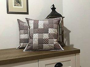 Úžitkový textil - vzor capuccino hnedá  - biela - 8741325_