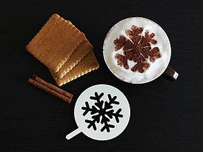 Pomôcky - Šablóna na kávu - vločka - 8800534_