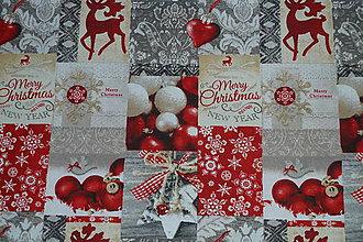Textil - Látka Vianočný jeleň - 8801090_