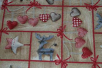 Textil - Látka Vianočné mašličky na dreve - 8801121_