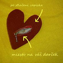 Taštičky - Srdce na zips na darček - 8804821_