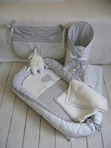 Textil - Hniezdo pre bábätko  sivá bavlna - 8741973_