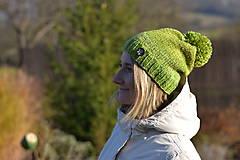 Čiapky - Zelená čiapka - 8803420_
