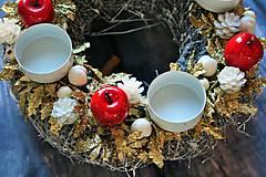Dekorácie - zlaté midi kúzlo (jedna sviečka) - 8800802_