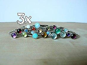 Prstene - 3ks (4mm) - Strieborný Stohovateľný Prsteň - 8801228_