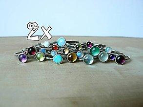 Prstene - 2ks (6mm) - Strieborný Stohovateľný Prsteň - 8801229_