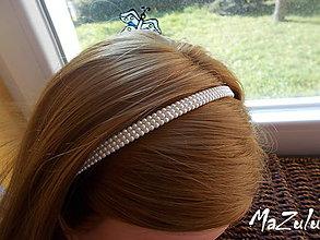 Ozdoby do vlasov - Perličková čelenka ivory III. - 8803810_