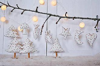 Drobnosti - Vianočná dekorácia stromčeky - 8802341_