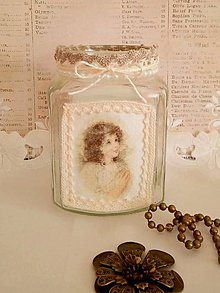 Svietidlá a sviečky - vintage svietnik s anjelikmi - 8805093_