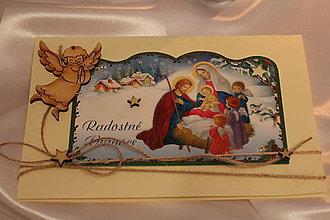 """Papiernictvo - Vianočná pohľadnica """"Radostné Vianoce s Ježiškom"""" - 8801834_"""