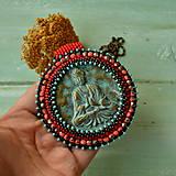 Náhrdelníky - Medallion with Buddha - 8799898_